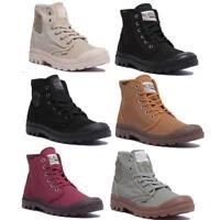 Palladium Pampa Hi Mens Light Grey Canvas Ankle Boots Size UK 6 - 12