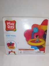 Play Day Baby Pool Ages 1-3 Butterfly Inflatable Sun Shade Pink Multi New