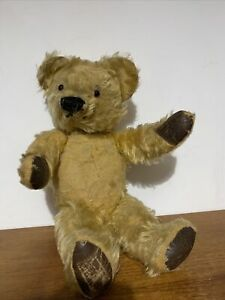 """Superb Antique Mohair Jointed Teddy - 16"""" Pedigree? Merrythought?"""