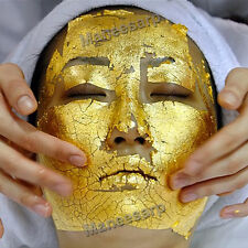 "100 pcs 24K GOLD LEAF ANTI WRINKLE FACIAL FACE SPA MASK lifts &firms 1.18""x1.18"""