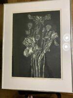 "Steven Barbash Hand Signed Etching - 1969 Artist Proof ""Iris #2"""