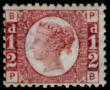 Sg48, 1/2 D Rose-Rojo Placa 13, LH Menta. Cat £ 120. pb