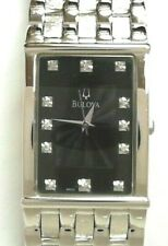 Bulova Stainless Steel Diamond Classic Gentleman's Watch New W/O Tags