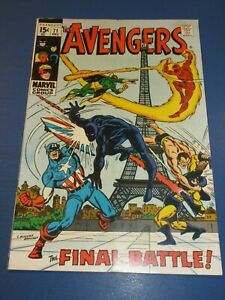 Avengers #71 Silver age 1st Invaders Key Fine-