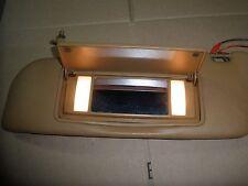 W123 300CD 280CE 230CE COUPE SUN VISOR LEFT DRIVER PALOMINO DATE TAN C123 W123C