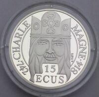 100 Francs 15 Écus Charlemagne 1990 BU argent #448