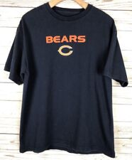Chicago Bears Embroidered Football Blue Cotton Knit T Shirt Tee Top p3