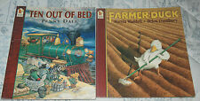 TEN OUT OF BED and FARMER DUCK 2 Children's Picture Books - paperbacks