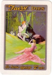 Beautiful Vintage Fairy Dyes  ADVERT  - Linen Swap Playing Card White Boarder