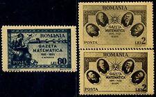 1945 Mathematics Journal,Masonic,Mathematique,Bridge,Titeica,Romania,900 a+b,MNH