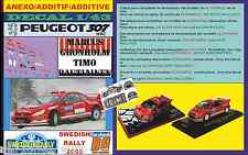 ANEXO DECAL 1/43 PEUGEOT 307 WRC MARCUS GRONHOLM SWEDISH RALLYE 2005 (01)