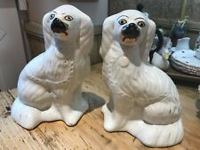 Rare matching pair of Staffordshire Fireside Mantle Dogs
