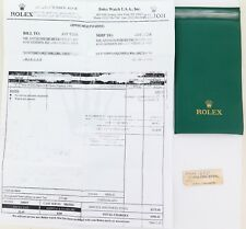 .OBSOLETE 1973 ROLEX SUBMARINER REF 1680 STICKER, OLD STYLE WALLET + SERVICE DOC