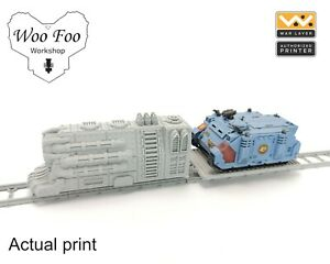 Sci Fi Gothic Train Tank Transport 3D printed gaming terrain necromunda Warlayer