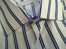 NWOT Brooks Brothers Luxury Collection White Navy Stripe 16.5-33 Regent MSRP$168