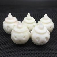 Natural  Marble Carved Pumpkin Halloween Room Decoration Reiki 1Pc