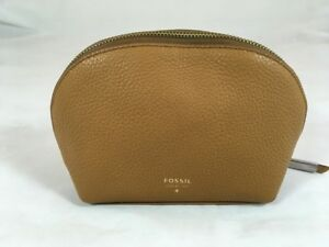 NWT Fossil Leather Cosmetics Case in Camel