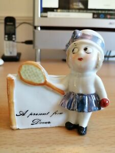 """CERAMIC ADVERTISING FIGURE. """" A PRESENT FROM DOVER """""""