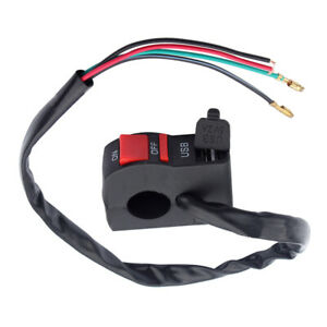 ATV Motorcycle Handlebar Headlight Fog Spot Light On/Off Switch with USB Charger