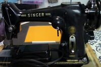 Black Antique Singer Sewing Machine & Pedal;Pre-Owned;GREAT QUALITY;Heavy Duty!