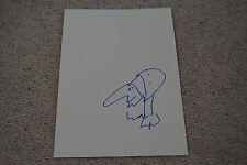 UDO LINDENBERG signed Autogramm + ZEICHNUNG In Person 20x30  cm rar!!