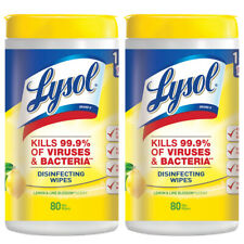 Lysol Disinfecting Wipes, Lemon - Lime Blossom 80 ct (Pack of 2)