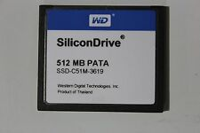 SSD-C51M-3619 512MB CF PATA SiliconDrive WESTERN DIGITAL 900-100-203 NEW !