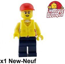 Lego - Figurine Minifig Coast Guard garde cote Dinghy 60014 cty414 NEUF