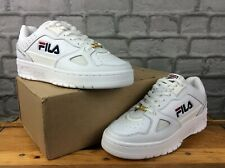 FILA MENS UK 7 EU 41 TERATACH 600 MID TOP LEATHER TRAINERS WHITE NAVY GOLD M