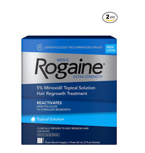 ROGAINE MEN'S TOPICAL SOLUTION 6 MONTHS 5% minoxidil extra strength liquid 2022