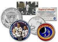 APOLLO 14 SPACE Colorized 2-Coin Set Quarter & JFK Half Dollar NASA ASTRONAUTS