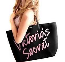 Victoria's Secret Ribbon Design XL Travel Tote Bag Black Limited Ed 2015