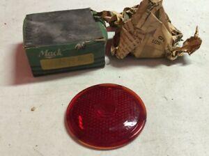 Original Vintage NOS MACK TRUCK NIB GLASS tail Lamp lens vintage STOP 1940's OLD