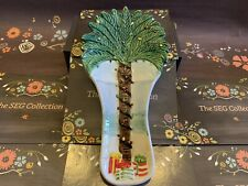 Noble Excellence Sunny Holiday Palm Tree Spoon Rest/Holder Tropical Christmas