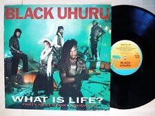 """Black Uhuru What Is Life / Solidarity / Party Next Door UK 12"""" Island 1984 EX+"""