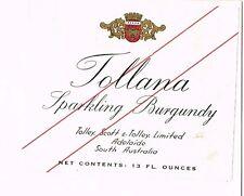 1930s Australia Tolley Scott Sparkling Burgundy Label