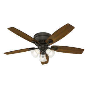 52in Ceiling Fan With Light Kit LED Oakhurst Bronze Low Profile