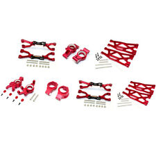 GPM Racing Aluminum F/R Up/Low Arms & Front C Hubs/Knuckle Arms Set Red : X-Maxx