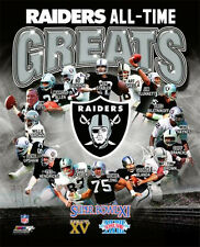 OAKLAND RAIDERS ALL-TIME GREATS Premium Poster Print -Allen, Stabler, Bo, Long++