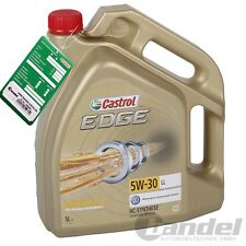 5 L LITER CASTROL EDGE FST 5W-30 MOTOR ÖL VW AUDI SEAT 504 00 507 00