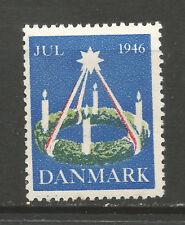 Denmark Christmas 1946 Tuberculosis (TB) charity stamp/seal