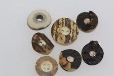 Durchmesser 26 mm 10 echte Hirschhorn Knöpfe mit Metall Dekor Vogel