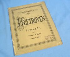 Sérénade Op.8 de Beethoven transcrite pour Piano à Quatre Mains/ Litolff Editeur