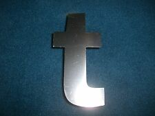 Buchstabe Edelstahl Metall V2A 10 x 5 cm 't' t für Hausnummer etc.
