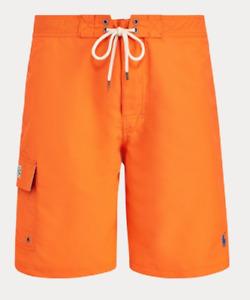 Polo Ralph Lauren Men'sl Kailua Swim Trunks Flare Orange XL