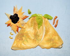 LUXURIOUS Yellow VAN GOGH Sunflower Genuine BARBIE Formal Skirt Set w/ Heels