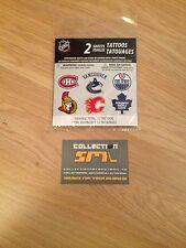 12 NHL TATTOOS Canadiens - Vancouver - Edmonton - Ottawa - Calgary - Toronto