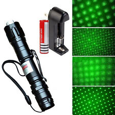 BL_ Powerful 5mW 532nm Green Laser Pointer Pen Lazer Beam Light With Battery/Cha