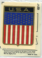 vtg impko water decal USA Crest Pride American America USA stars and stripes NOS