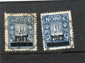 Norway used - F-VF - Norgeskatalogen 168 a & b